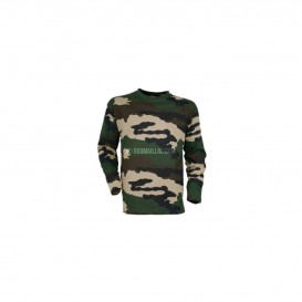 T SHIRT CHASSE MANCHES LONGUES CAMO