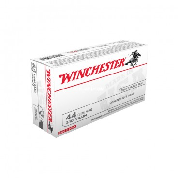 MUNITIONS BALLES WINCHESTER 44 MAGNUM JACKETED SOFT POINT